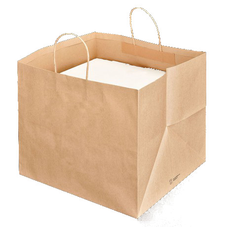 Sacchetti shoppers porta scatole pizza cm 36 31 5x36 cm avana - Porta sacchetti plastica ...