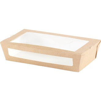 Scatola con finestra in PLA da 900 ml - 20x12x4,5 cm
