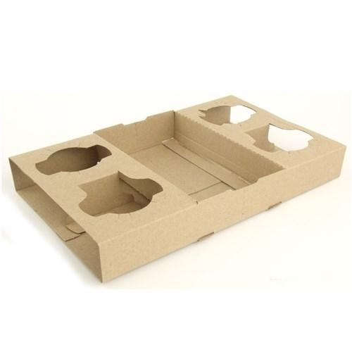 Porta bicchieri in cartoncino 17 4x29x3 7cm - Porta bicchieri ...
