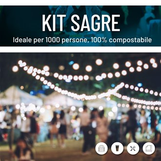 kit party stoviglie compostabili
