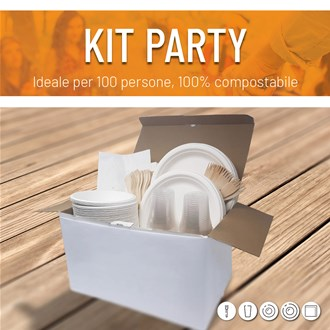 kit party piatti biodegradabili in offerta