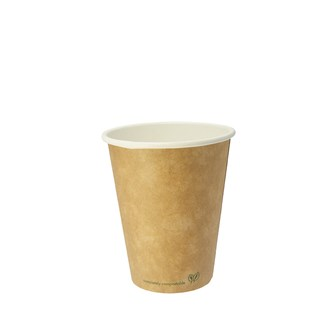 Bicchiere Kraft 240 ml in cartoncino e PLA